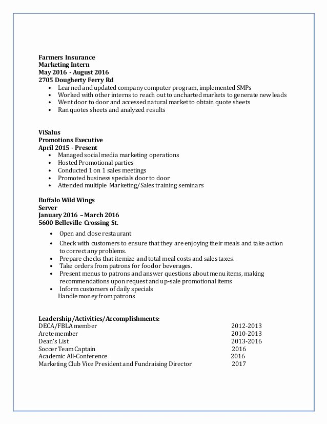 Lexie Hunk Resume and Re Mendation