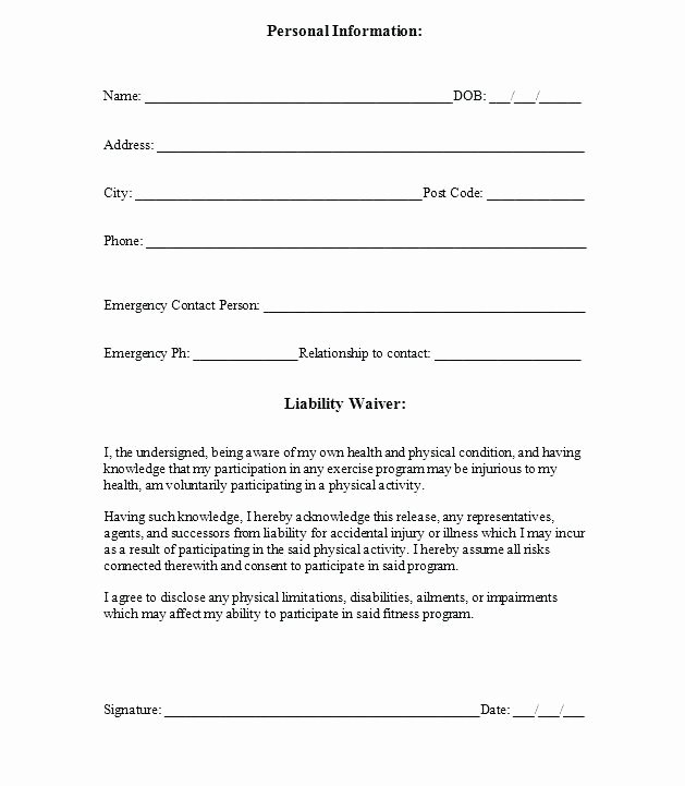 Liability Waiver Yoga Waiver Template Waiver form Template