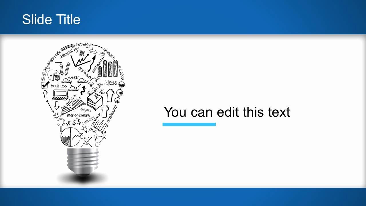 Light Bulb Idea Powerpoint Template Slidemodel
