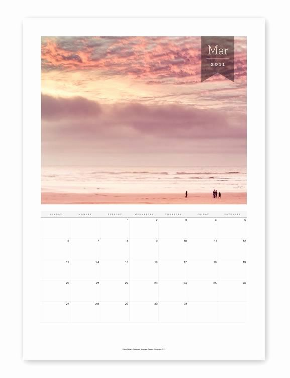 free indesign photography calendar