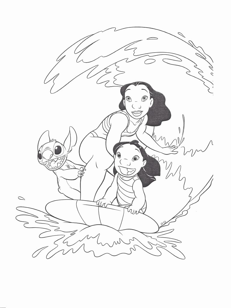 Lilo and Stitch Coloring Book Pages 9056