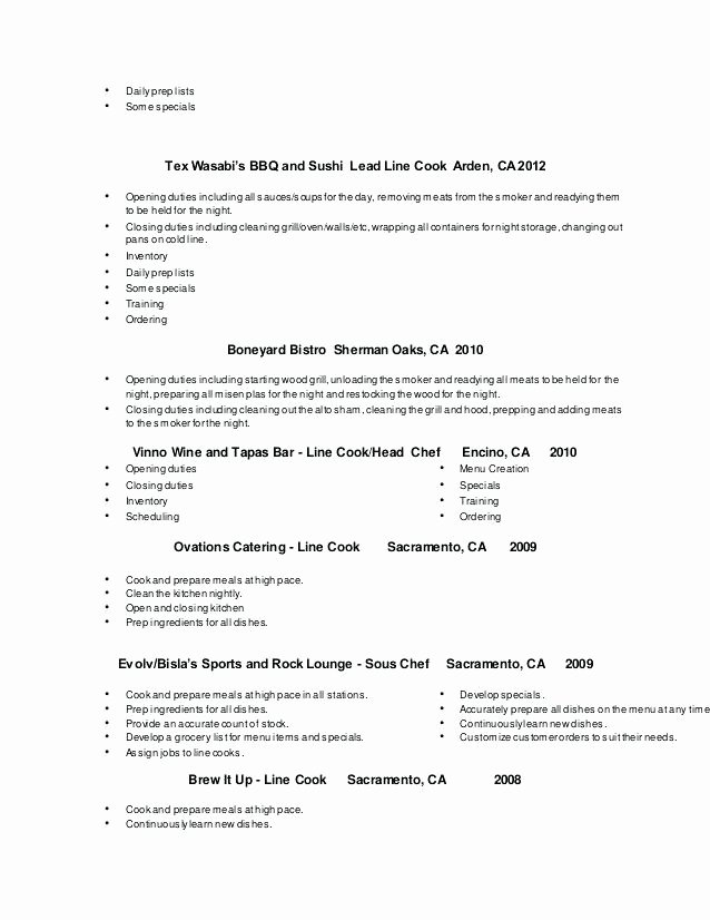 Sample Cook Resume Objective With Latter