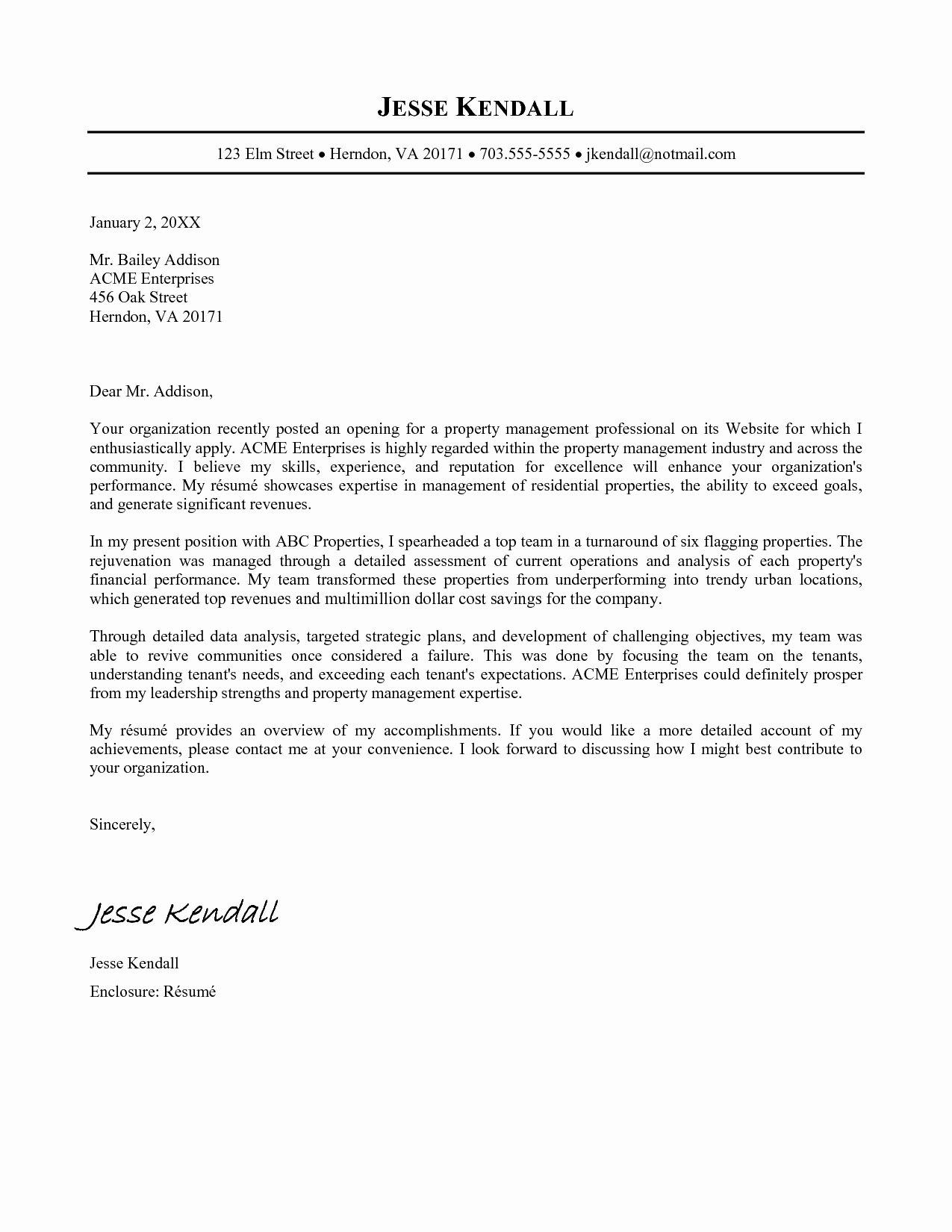 Line Cover Letter format