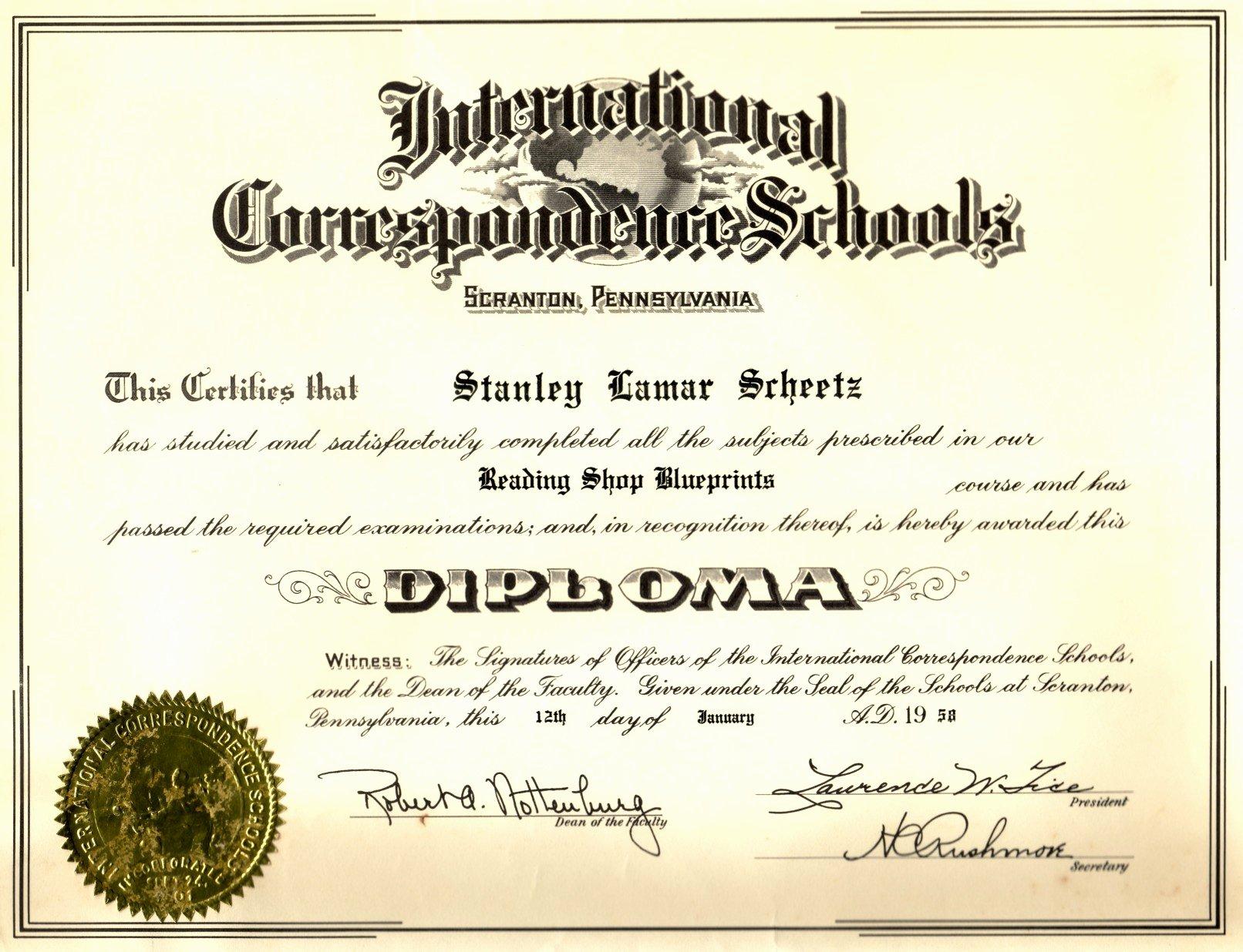 Line Diploma Certificate Templates
