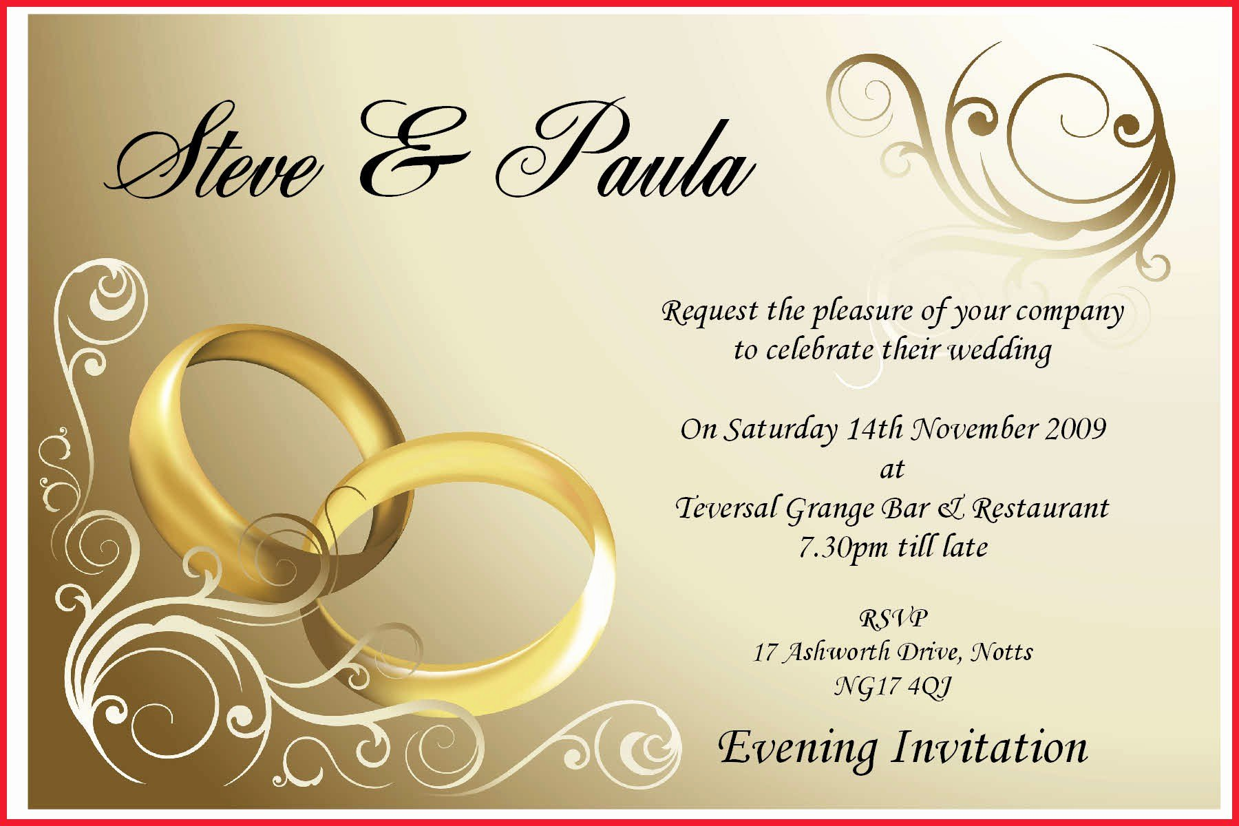 Line Editable Wedding Invitation Cards Free Download
