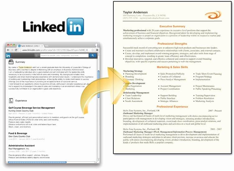 Line Professional Resume Builder