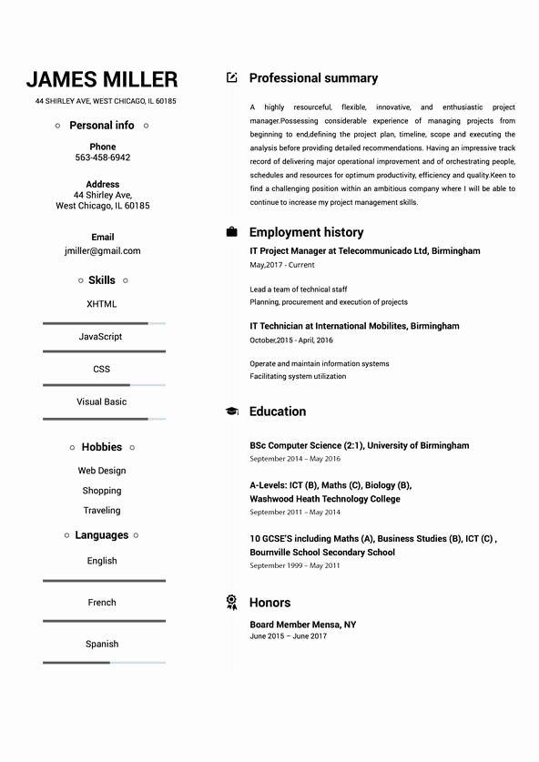Line Resume Builder