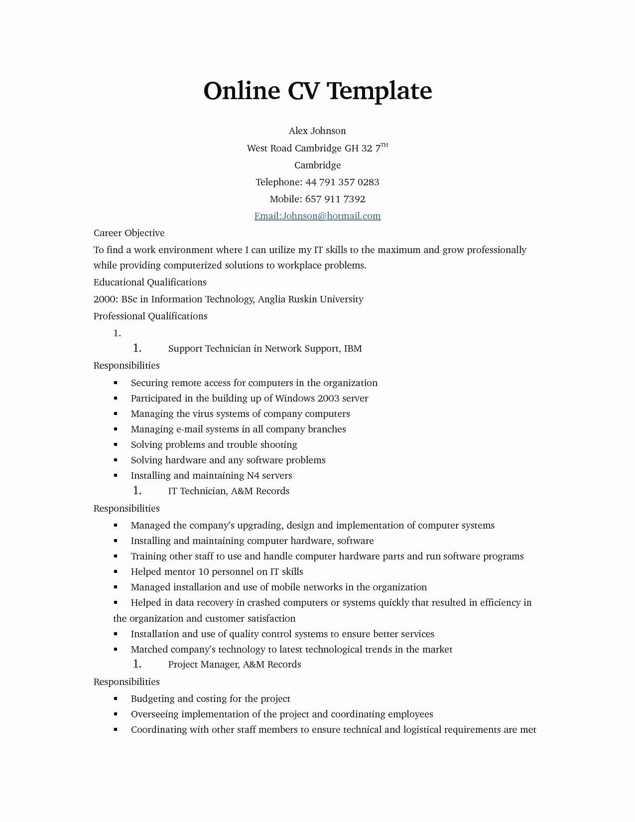 Line Resume Templates