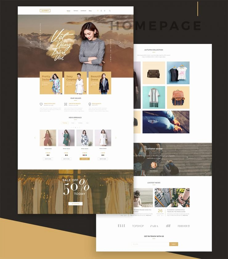 Line Shopping Store E Merce Template Free Psd Download