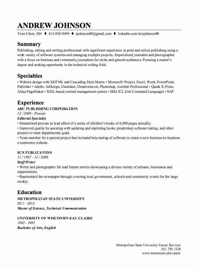 Linkedin Labs Resume Builder