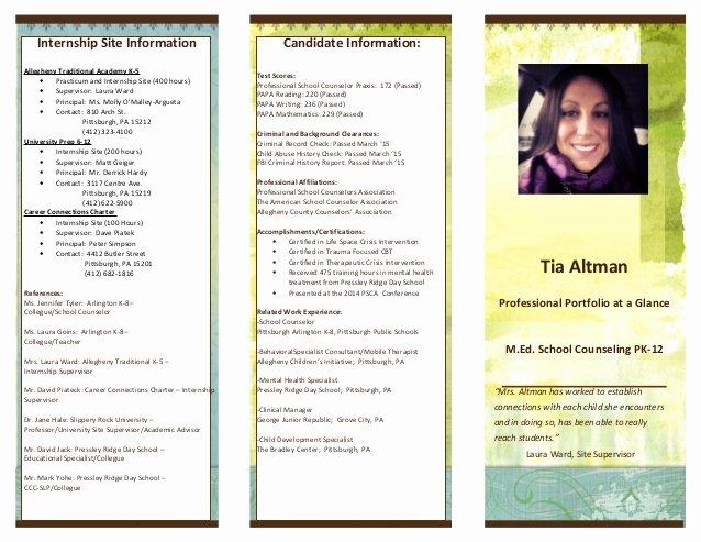 Linkedin Portfolio Brochure