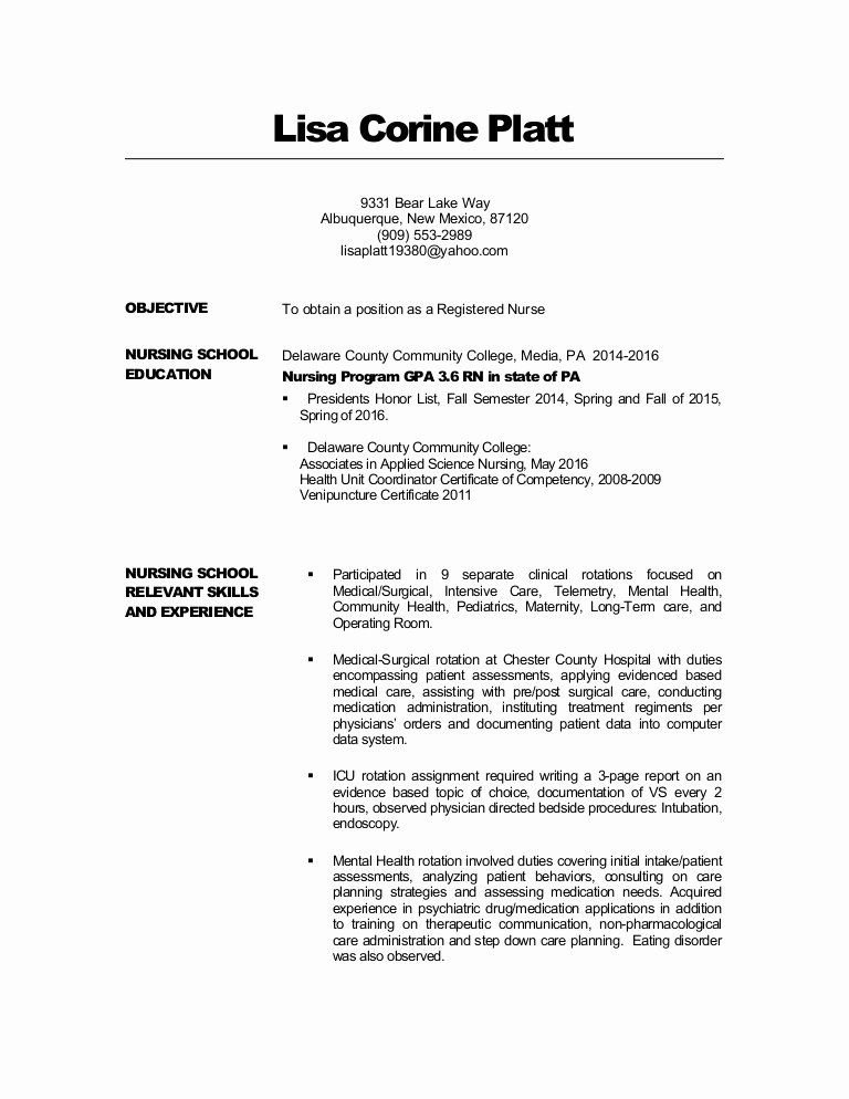 Lisa Platt Resume 2 Rn