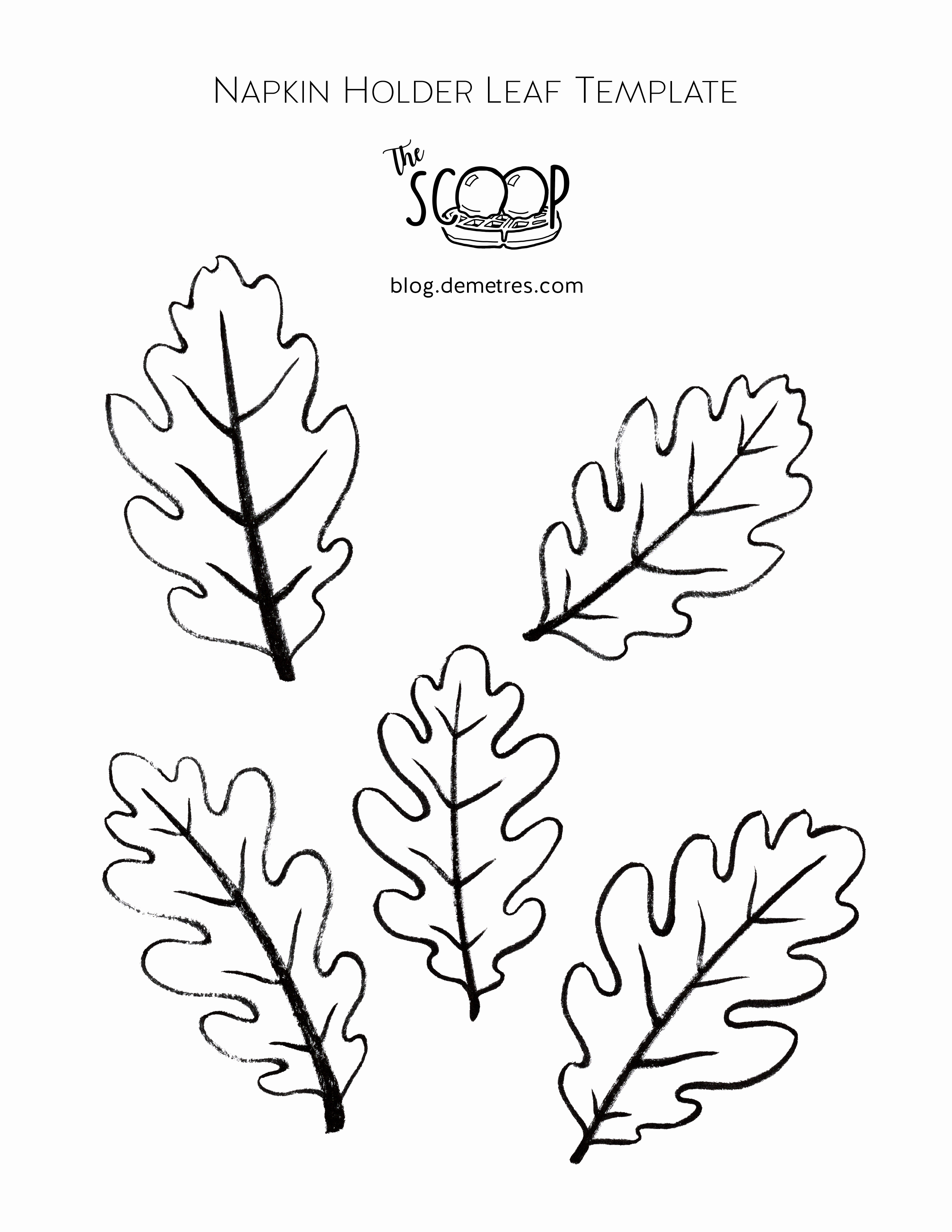 List Of Synonyms and Antonyms Of the Word Oak Leaf Template