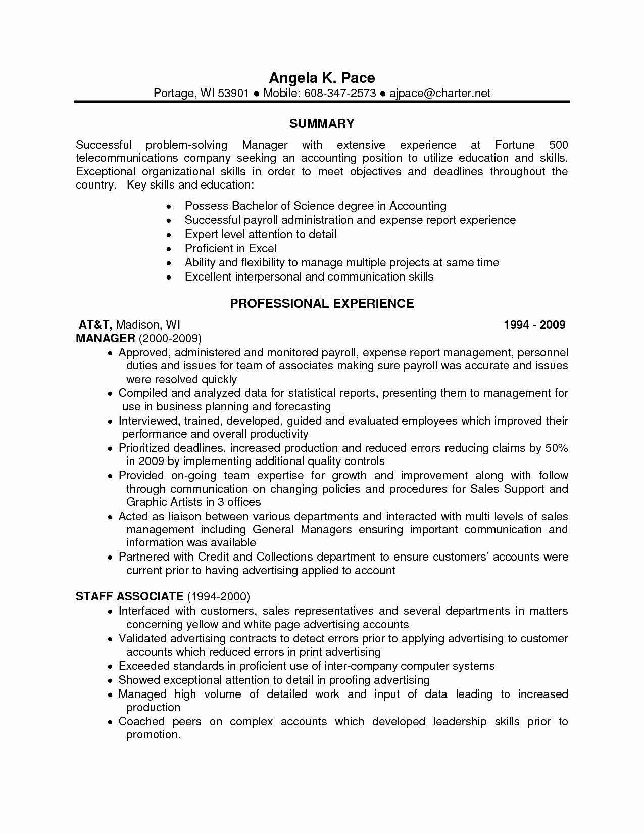List Resume Skill Sets