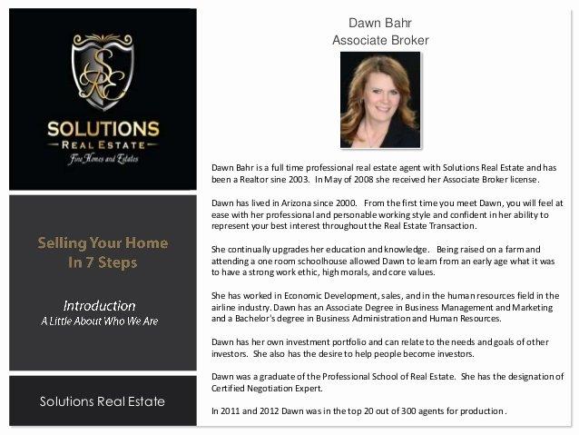 Listing Presentation Dawn Bahr