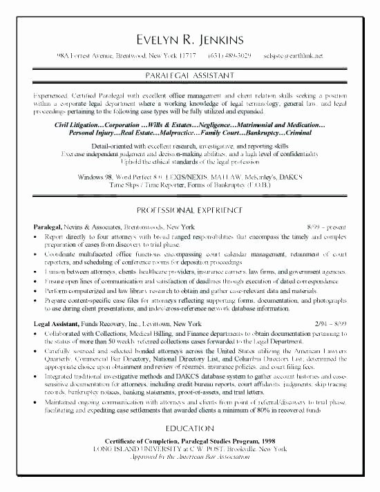 Litigation Paralegal Resume Sample – Komphelpso