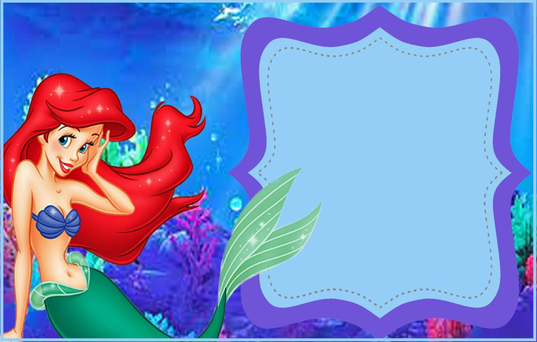 graphic regarding Little Mermaid Invitations Free Printable called Minor Mermaid Birthday Invites Template Latter