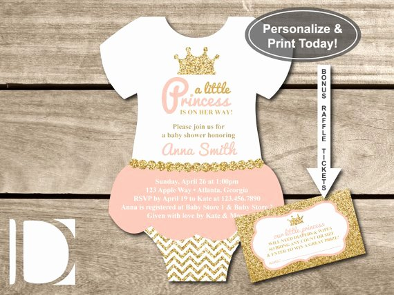 Little Princess Baby Shower Invitation Esie by