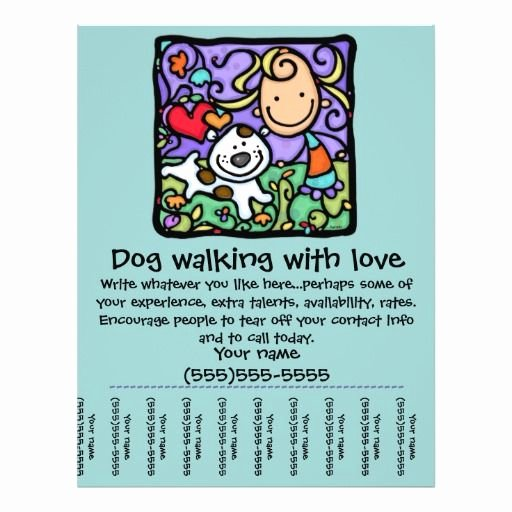 Littlegirlie Dog Walk Sitting Tear Sheet Flyer