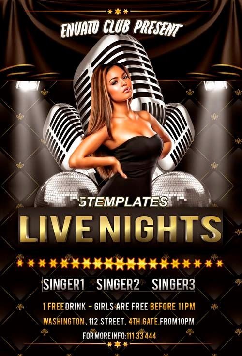 Live Nights Throwback Party Free Flyer Psd Template