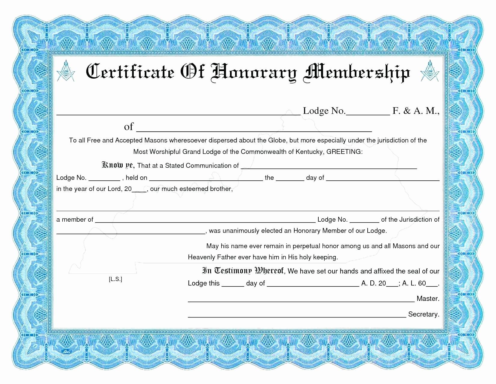 Llc Membership Certificate Template Word Certificate