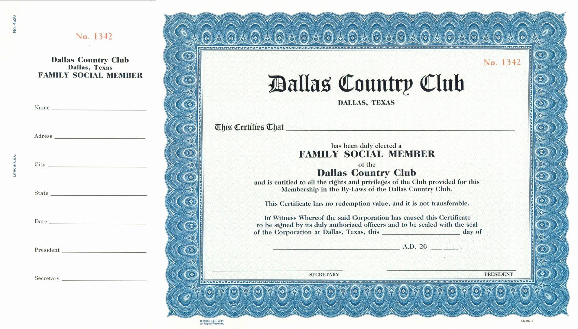 Llc Membership Certificates Templates