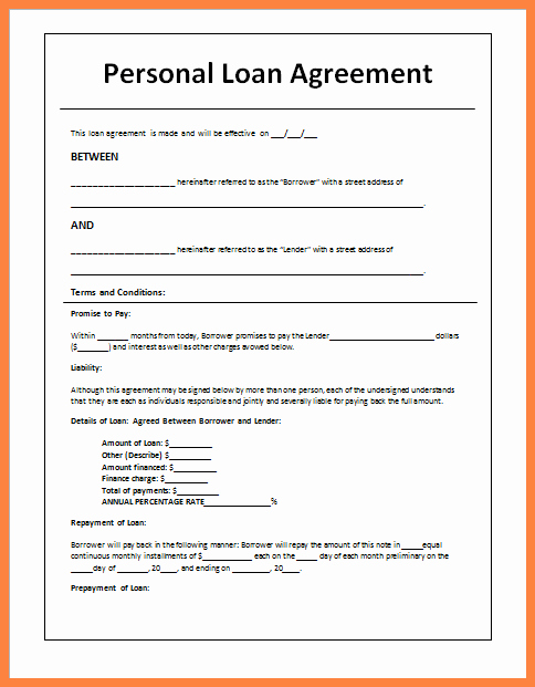 Loan Agreement Between Friends Template Free 28 Images