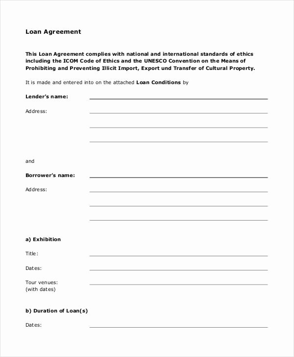 Loan Agreement form 14 Free Pdf Documents Download