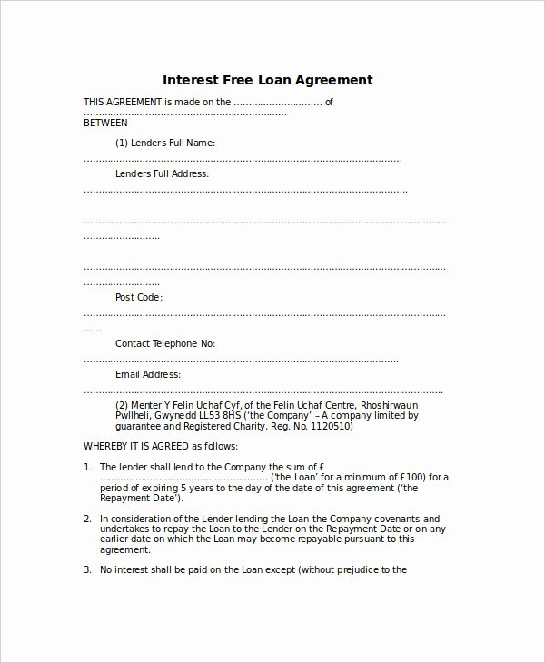 Loan Agreement Template 17 Free Word Pdf Document