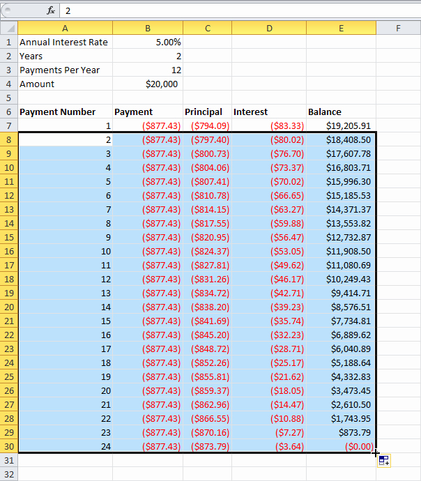 Loan Amortization Schedule In Ms Excel Techsupport