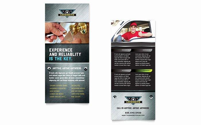 Locksmith Rack Card Template Design