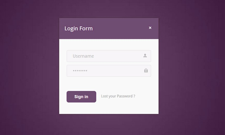 Login Page Template Gallery
