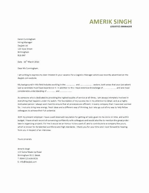 Logistics Administrator Cover Letter Sarahepps