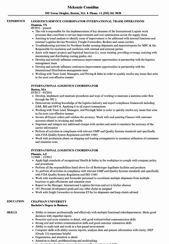 Logistics Coordinator Job Description Letsridenow