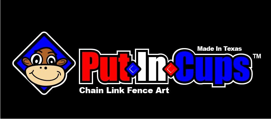 Logo for Put In Cups Chain Link Fence Art