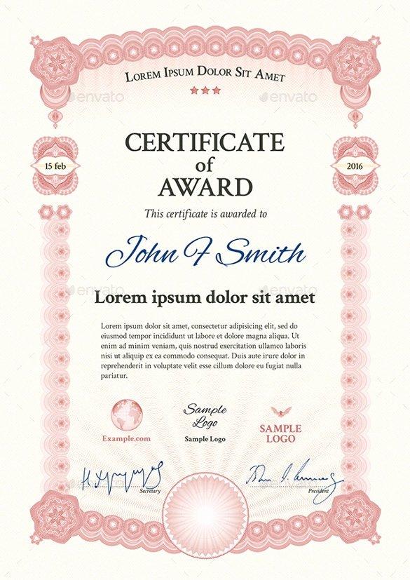 Long Service Award Certificate Template Invitation Template