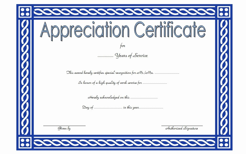 Long Service Certificate Template 9 – Best 10 Templates