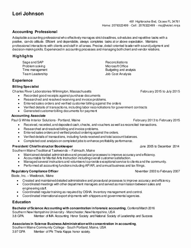 Lori Johnson Resume 2016 Update