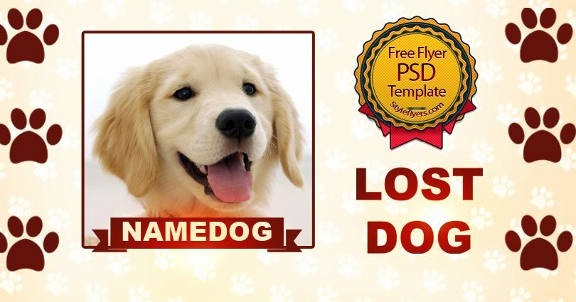 Lost Dog Free Psd Flyer Template Free Download