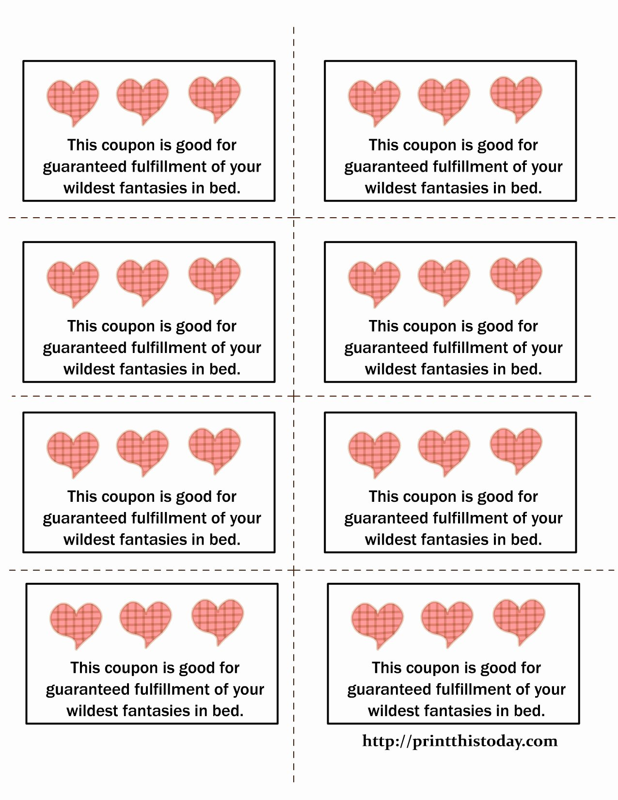 Love Coupon Template Microsoft Word
