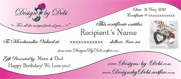 Love Gift Certificate Template Lacalabaza