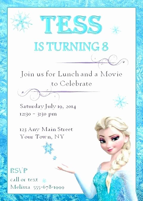 Love It Frozen Printable Birthday Invitation Templates to