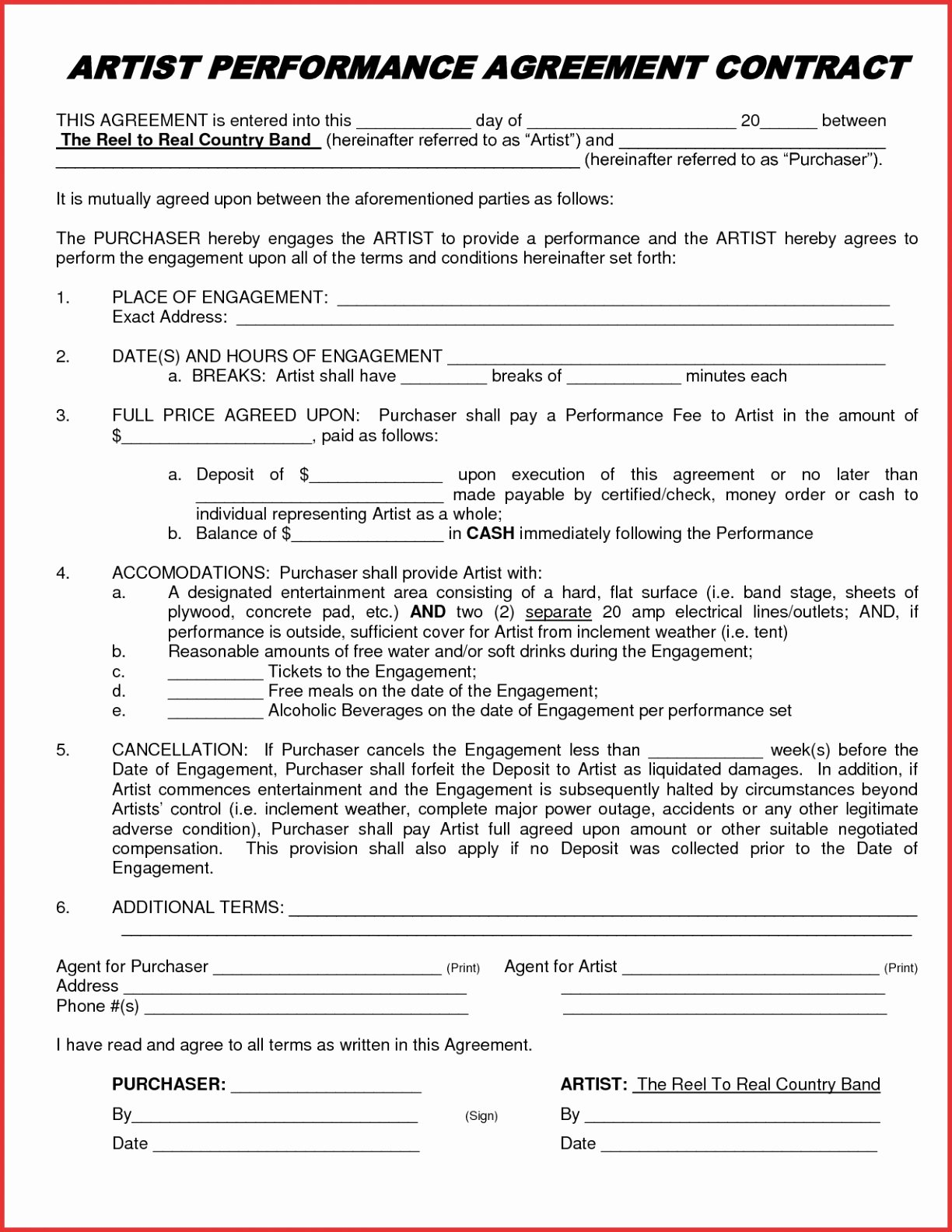 Lovely Free Printable Rental Agreement