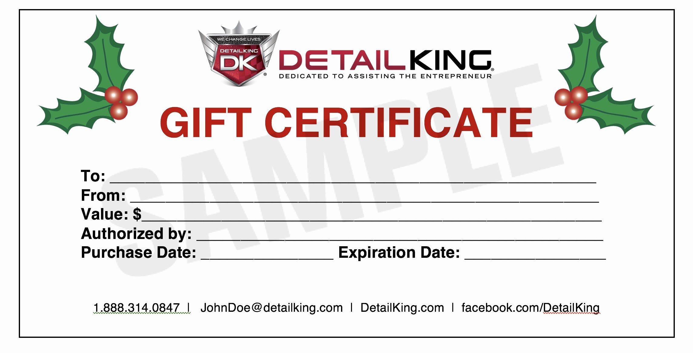 Lovely Gift Certificate Maker – Crisia