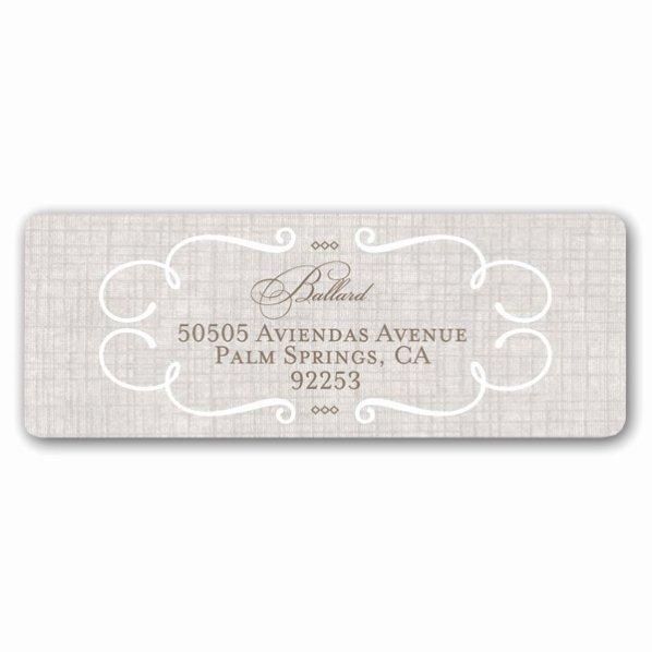 Lovely Linen Wedding Return Address Labels