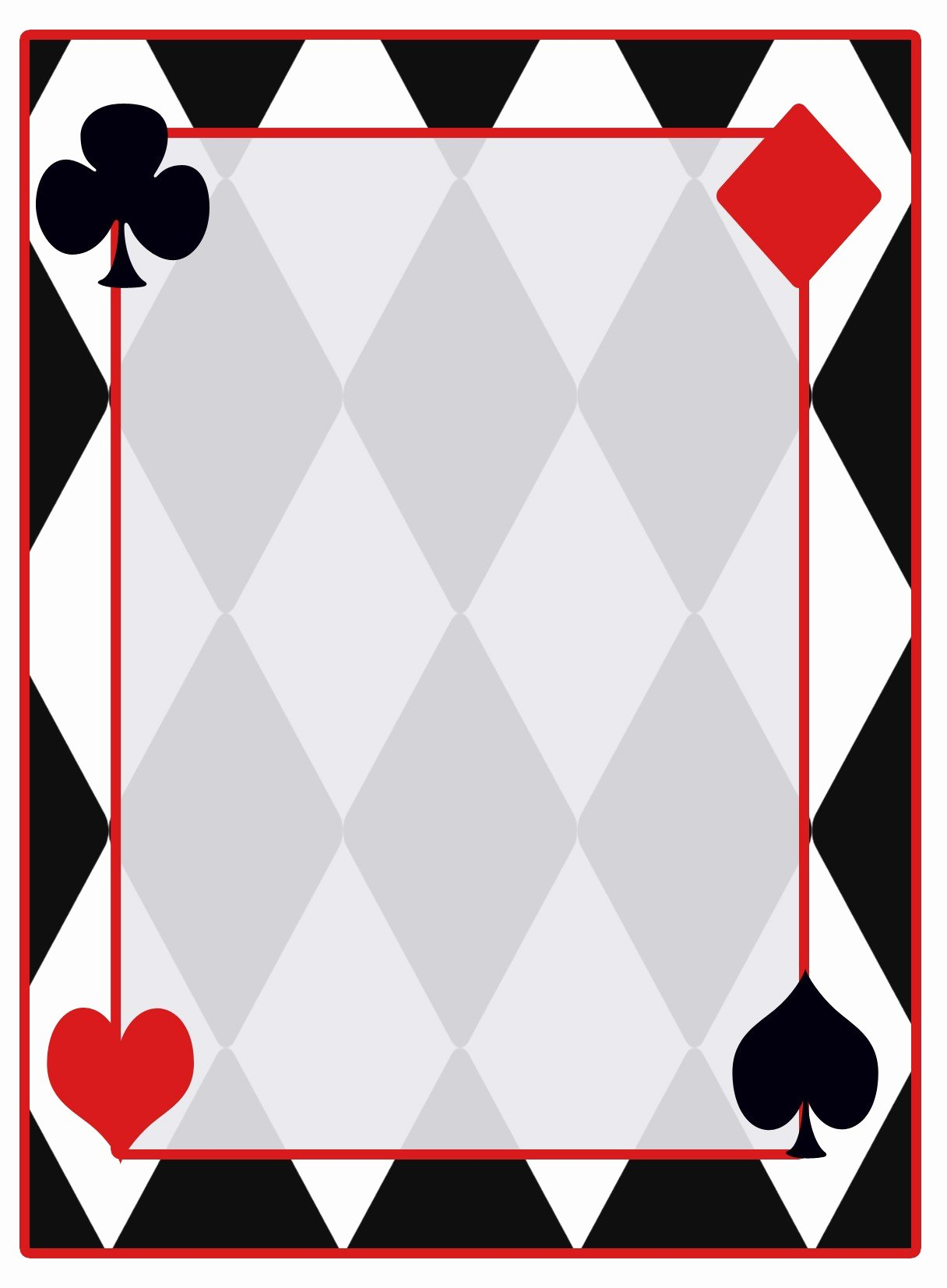 Lovely Printable Playing Cards A4