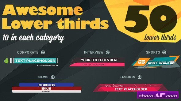 Lower Third after Effects Templates Videohive