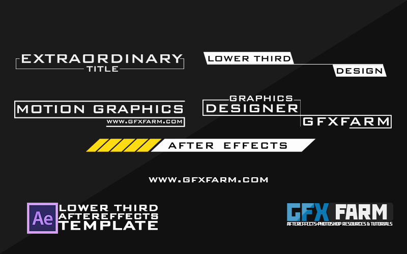 Lower Third Pack after Effects Template Gfxfarm