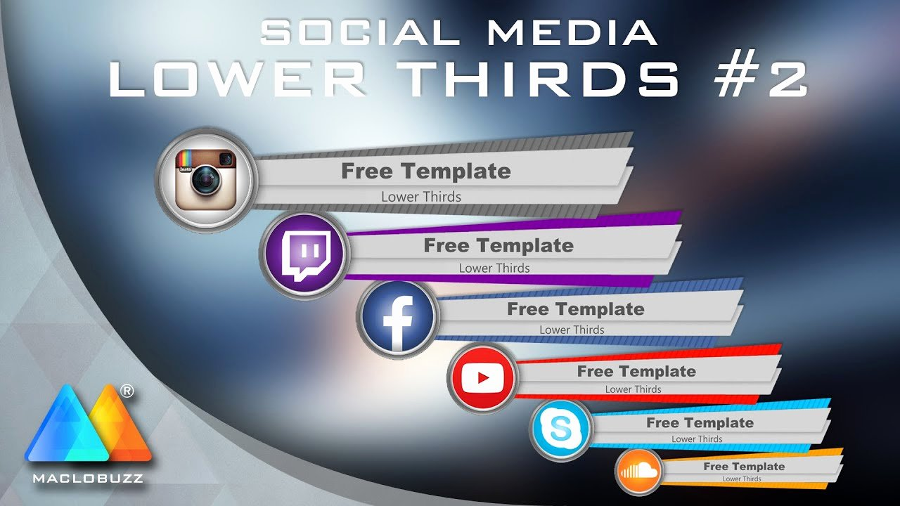 Lower Thirds social Media 2 Free Template sony Vegas