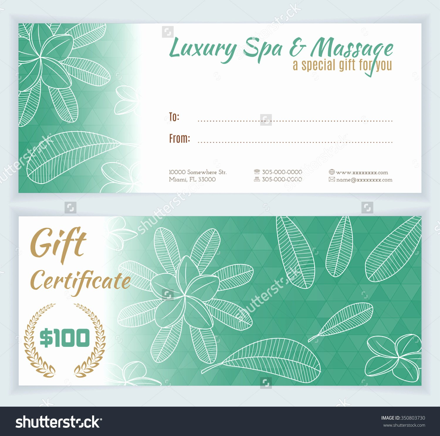 Lu La Roe Gift Card Design Templates